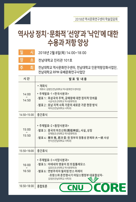 2018년 역사문화연구센터 학술집담회